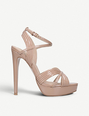KG KURT GEIGER Sammy patent strappy sandals