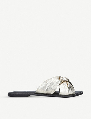 KG KURT GEIGER Riley metallic-leather sliders