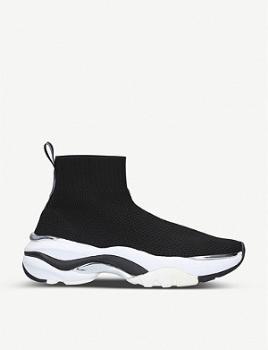 CARVELA Lock chunky-sole sock-style trainers