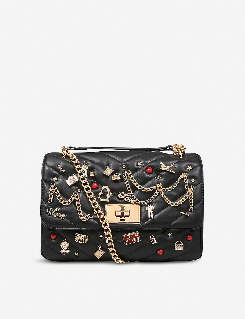 6d2bc3a9e7a ALDO - Aderran embellished faux-leather cross body bag