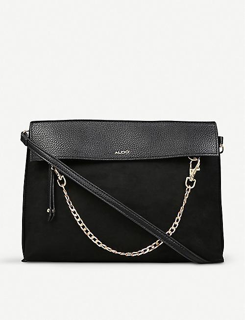 8e543d03c9b ALDO Asiasien faux-leather and suedette clutch