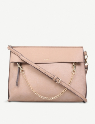 ALDO Asiasien faux-leather and suedette clutch