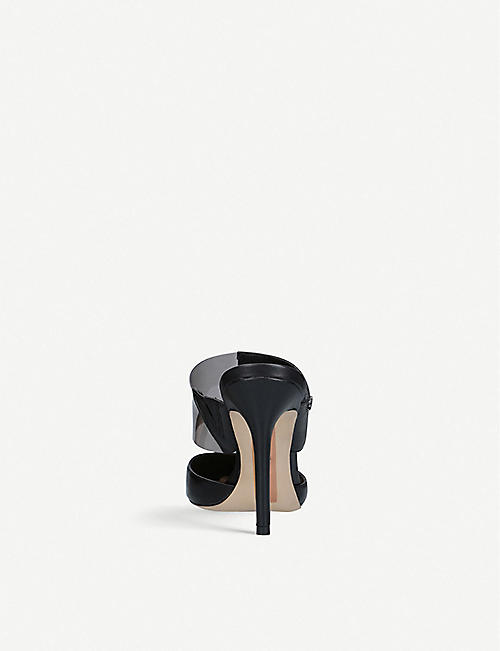 SAM EDELMAN Hope leather and vinyl mules