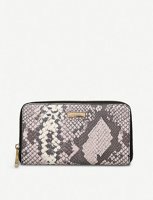 2d48b3090df ALDO Ligosullo snake-embossed faux-leather purse