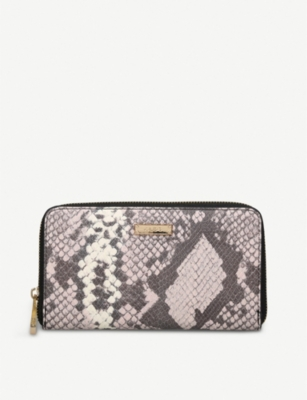 ALDO Ligosullo snake-embossed faux-leather purse