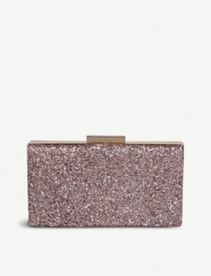 ALDO Wapato glittered clutch