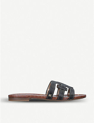 SAM EDELMAN: Bay double E leather sandals