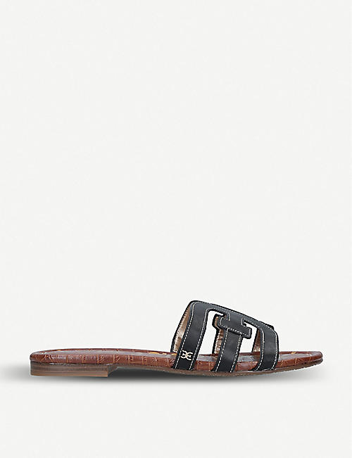 2c9eeed1e9f SAM EDELMAN Bay double E leather sandals