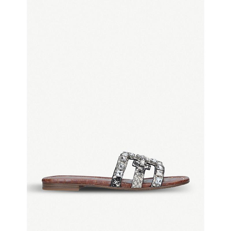 SAM EDELMAN   Bay Embellished Leather Sandals   Goxip