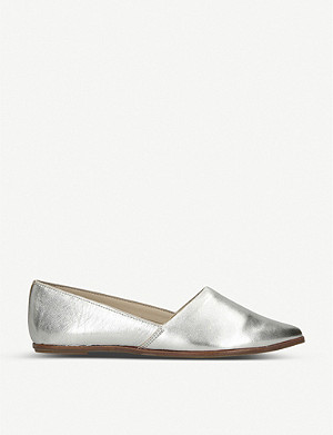 ALDO Blanchette metallic leather flats