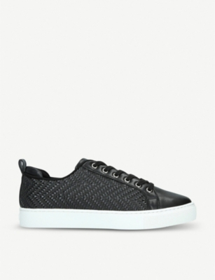 ALDO Woallan woven leather and raffia trainers