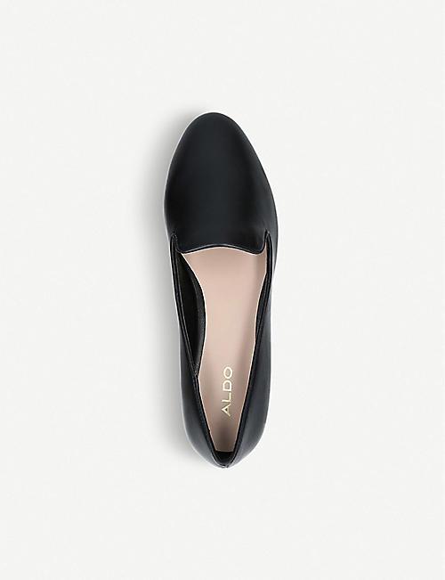 89585b0bb3f3 ALDO Dwiarwen metallic heel faux-leather loafers