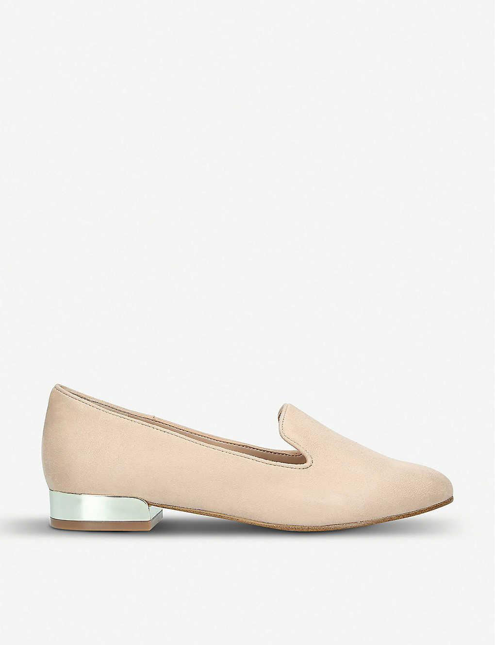 ALDO: Dwiarwen metallic heel faux-leather loafers