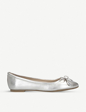 ALDO Unelamma metallic leather ballerina flats