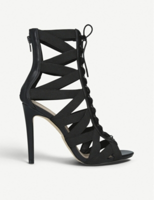 ALDO Gwayviel mesh and faux-leather booties