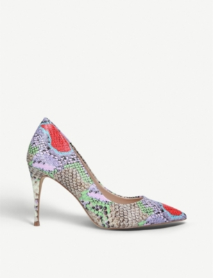 ALDO Traycey croc-embossed heeled courts