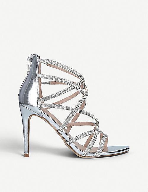 e654e559066 ALDO Meraerka crystal-embellished strappy metallic sandals