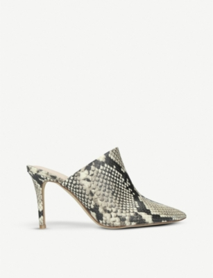 ALDO Mirudien snakeskin-print pointed leather mules