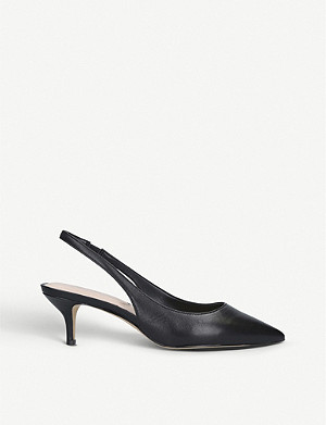 ALDO Nilania leather slingback court shoes