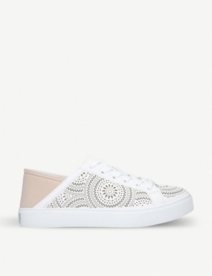 ALDO Stepanie laser-cut trim low-top trainers