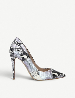 ALDO Stessy snake-embossed faux-leather courts