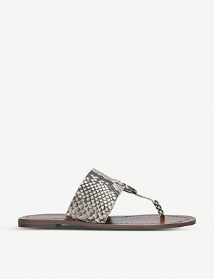 ALDO Ocericia faux-snakeskin leather sandals
