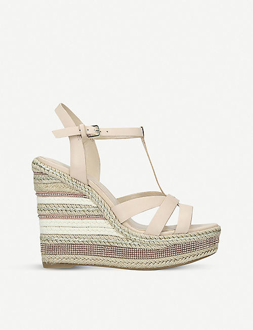 ALDO Nydaycia leather wedge sandals