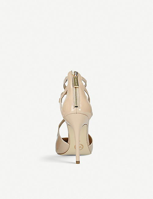 MICHAEL MICHAEL KORS Catia cross-over strap patent-leather courts