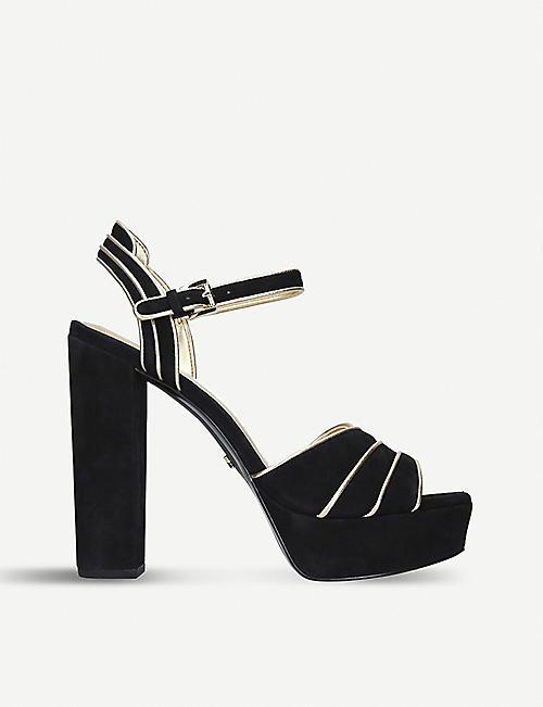 9c53e9240e52 MICHAEL MICHAEL KORS Harper cutout suede platform sandals