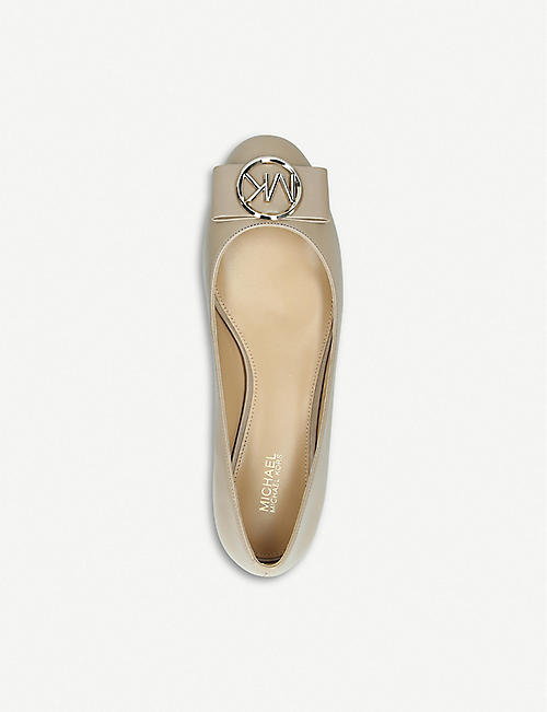 MICHAEL MICHAEL KORS Marsha leather ballet flats