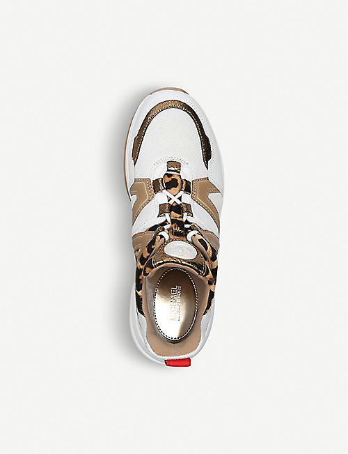 MICHAEL MICHAEL KORS Olympia leather and mesh trainers