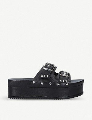 CARVELA Kaitlin leather flatform slides