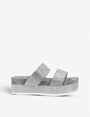 CARVELA Konquer rhinestone-embellished leather sandals