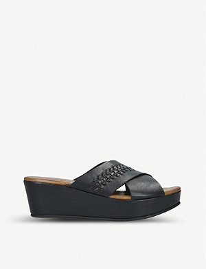 NINE WEST Rival leather sandals