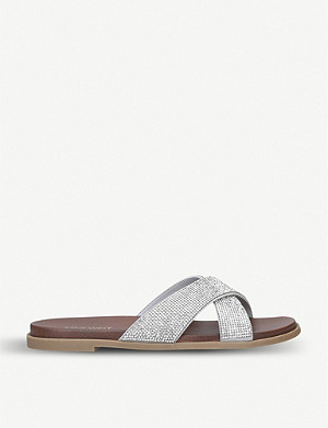 NINE WEST Glitz embellished sliders