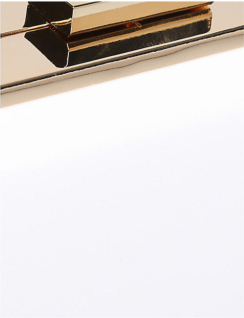 CARVELA Golden silver-tone metallic box clutch