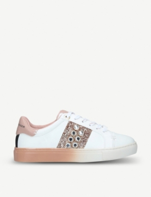 KG KURT GEIGER Lana embellished vegan-leather trainers