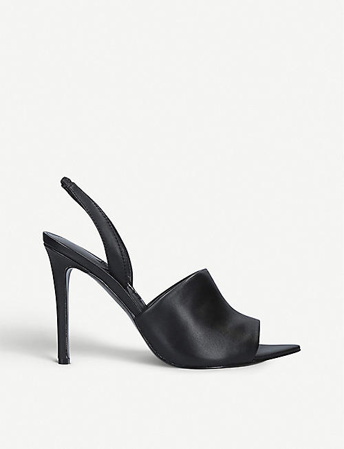 NINE WEST Guthrie leather heeled sandals