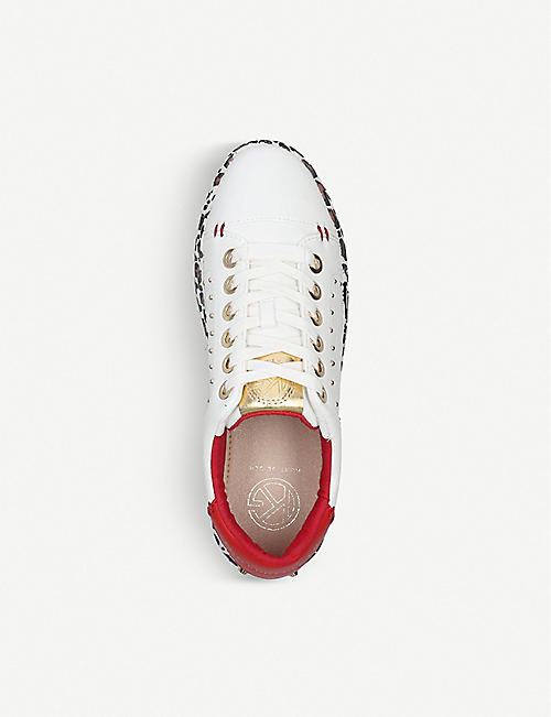 KG KURT GEIGER Letty vegan-leather low-top trainers