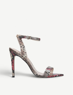 ALDO Bravyan snake-embossed faux-leather sandals