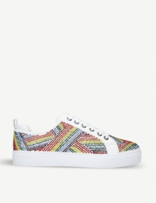 ALDO Dweridien embellished faux-leather trainers