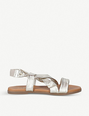 ALDO Galaradeb metallic leather sandals