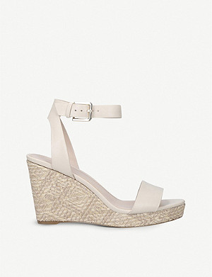 ALDO Unaliviel textured-wedge sandals
