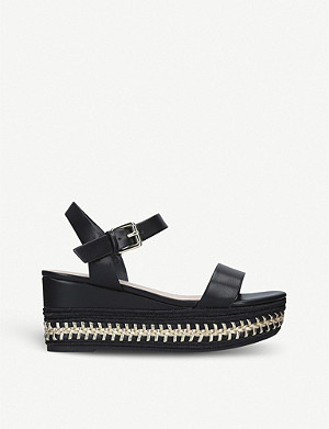ALDO Mauma faux-leather wedge espadrilles