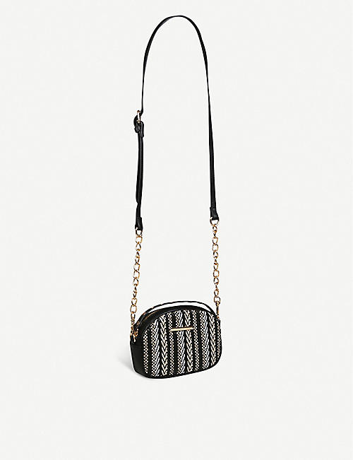 ALDO Cessna woven faux-leather belt bag