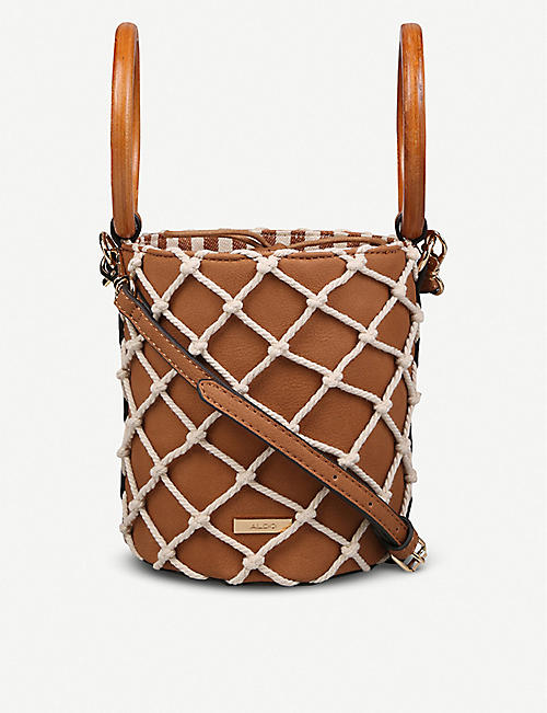ALDO Kardori rope net faux-leather bucket bag