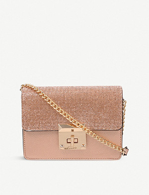 ALDO Legoide embellished metallic crossbody bag