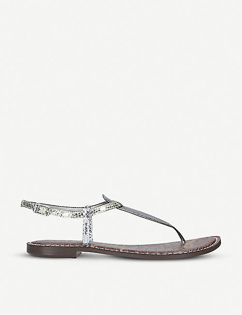 92b194d44 SAM EDELMAN Gigi metallic leather sandals