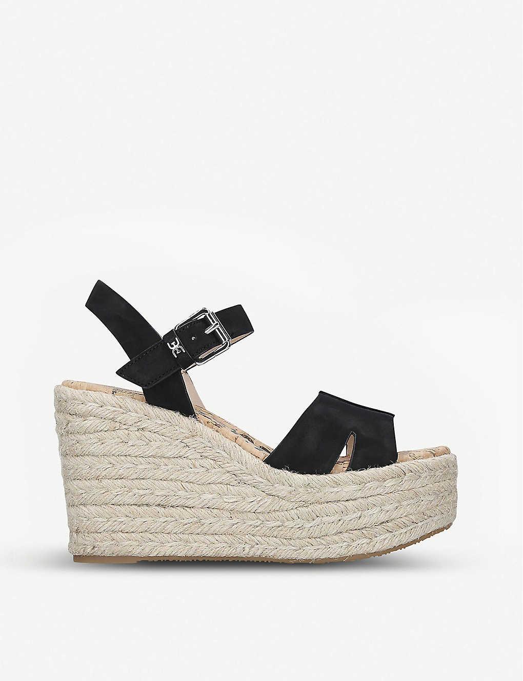 b57a36de29a Maura leather espadrille wedge sandals