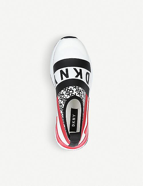DKNY Reese branded contrast-panel slip-on trainers